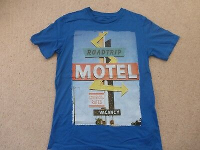 £2 • Buy BLUE ZOO Blue Printed T-shirt - Size 11-12 Years - Excellent Condition
