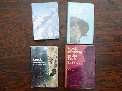 £9.99 • Buy 4 Rock Climbing Guide Books, Job Lot Of 4 Derwent Valley, Lundy Etc..