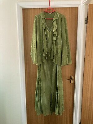 £20 • Buy Green Dress Size 24 And Jacket Size 26