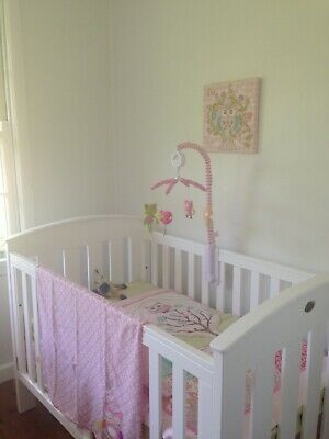 £39 • Buy Used Boori Classic Cot Bed (Dropside) & Toddler Guard Rail