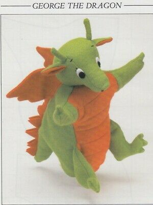 £1.25 • Buy Sue Quinn's George The Dragon Puppet~toy Sewing Pattern + Enlarged Templates
