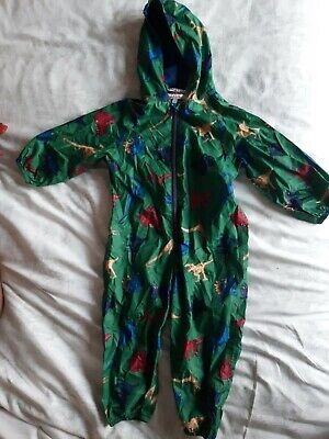 £12 • Buy Joules Right As Rain, Puddle Suit. Age 18-24 Months 1.5-2yrs. Green Dinosaur