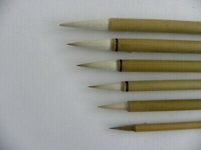 £5.99 • Buy 6pc Set Chinese Paint Brushes For Calligraphy Watercolour Drawing Painting WB14