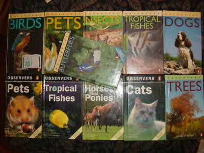 £50 • Buy Observers Selection Of 11 Books... Tropical Fishes, Insects, Horses And Ponies..