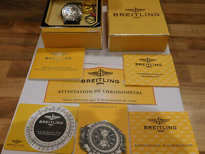 £2000 • Buy Breitling Chronomatic A41360 Gents Chronograph Wristwatch With Box & Paperwork