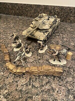 $80 • Buy Forces Of Valor Unimax 1:32 US M1A1 Abrams Diecast Tank And Marine Squad