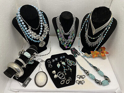 $ CDN14.32 • Buy VINTAGE To MODERN JEWLERY LOT ALL WEARABLE SOME SIGNED