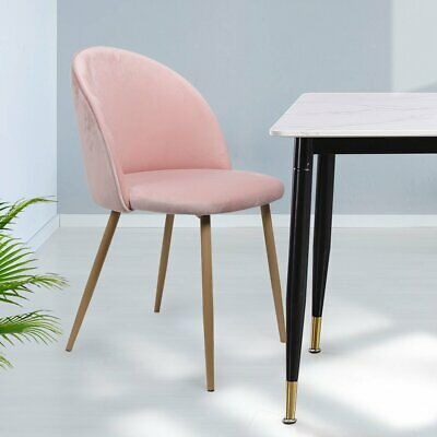 AU169.95 • Buy 2x Dining Chairs Seat French Provincial Kitchen Lounge Chair Pink