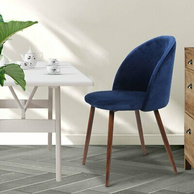 AU169.95 • Buy 2x Dining Chairs Seat French Provincial Kitchen Lounge Chair Navy