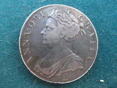 £425 • Buy A Lovely Queen Anne 1707 E Sexto Crown - About VF  Nice Dark Patina