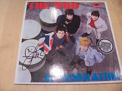 £34.99 • Buy SIGNED THE WHO My Generation LP Cover AUTOGRAPHED Townsend Daltrey Entwistle