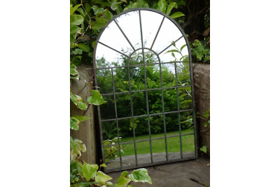 £54.95 • Buy Large Arched Window Metal Distressed Rustic Wall Mirror Home / Garden Decor 77cm