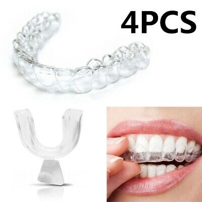 AU3.69 • Buy 4pcs Oral Silicone Trays Night Mouth Guard For Teeth Whitening Clenching Dental