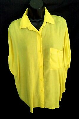 £7.99 • Buy FRENCH CONNECTION Bright Yellow Oversized Blouse Shirt Top Size M 12 14 16