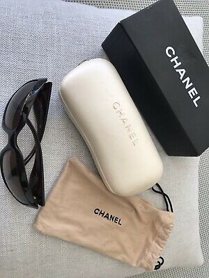 AU80 • Buy Chanel Sunglasses, Dark Brown, Mother Of Pearl CC Branding On The Temple.