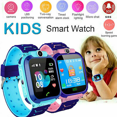 AU25.99 • Buy Waterproof Kids Smart Watch Anti-lost Safe GPS Tracker For Android IOS SOS Call