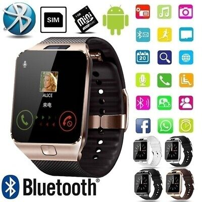 AU27.99 • Buy Bluetooth Smart Watch With Camera Phone Mate GSM SIM For Android IPhone Samsung