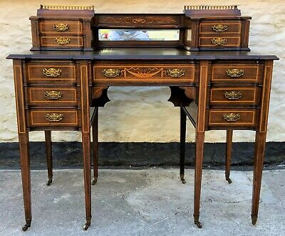 £2350 • Buy Maple & Co - Stunning Edwardian Marquetry Rosewood Library Writing Table Desk