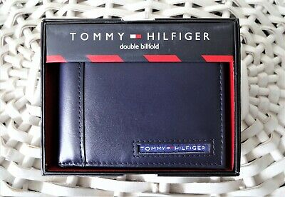 £20.99 • Buy Men's Leather Pascase Wallet 'Tommy Hilfiger' Bifold 'CAMBRIDGE'Navy,Credit Card