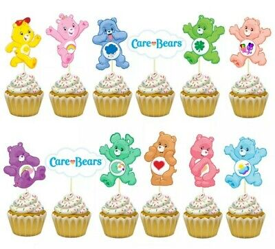 £3.50 • Buy 12PCS Cupcake Cake Toppers Picks Retro Care Bears Birthday Party Decoration CARD