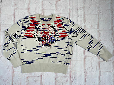 AU10.15 • Buy A45 Kenzo Womens Knit Jumper Embroidered - Size Large