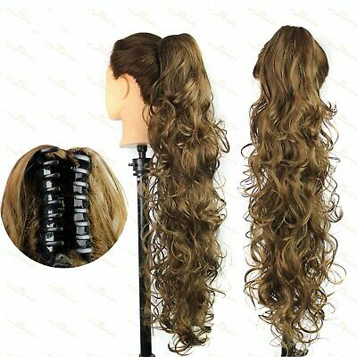 £11.99 • Buy Women Big Wavy Claw Ponytail Hair Piece Extensions Clip In Long Braids Ponytail