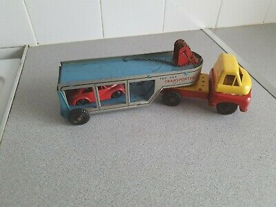 £10 • Buy VINTAGE Tinplate Car Transporter. Made In Great Britain. Used, Working.