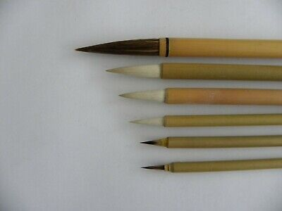 £6.50 • Buy 6pc Set Chinese Paint Brushes For Calligraphy Watercolour Drawing Painting WB16