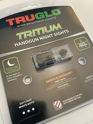 $50 • Buy NEW TruGlo Tritium Night Sights For Smith & Wesson M&P | TG231MP | Unopened
