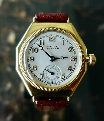 £4750 • Buy A BEAUTIFUL & RARE VINTAGE 1920s ROLEX OYSTER  OCTAGONAL  IN 18K SOLID GOLD