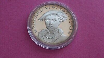 £2.20 • Buy Large Silver.925 Hallmarked Medal Edward VI By John Pinches Of London 1974.