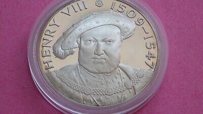 £13.63 • Buy Large Silver.925 Hallmarked Medal Henry VIII By John Pinches Of London 1974.