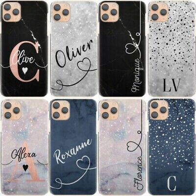 AU15.32 • Buy Personalised Initial Phone Case, Name Blue Marble Hard Cover For Google