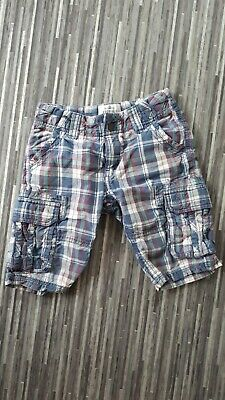 £1 • Buy Boys Fatface Blue Purple Checked Shorts Size 6-7