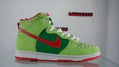 AU204.33 • Buy NEW Nike Dunk SB High Pro Dr. Feelgood Size 9.5 305050 362 Green Red