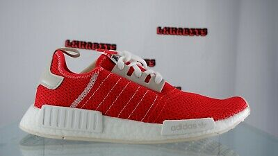 $ CDN42.11 • Buy NEW Adidas NMD R1 Boost Running Shoes Active Red Ecru Tint Men Size 11 BD7897