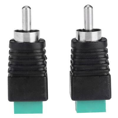 £3.79 • Buy 2pcs Speaker Wire Cable To Audio Male RCA Connectors Adapters Jack Plug