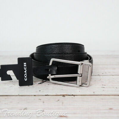$49.95 • Buy NWT Coach F59116 Modern Harness Cut-to-Size Reversible Leather Belt In Black
