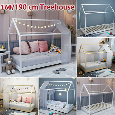 £119.99 • Buy Treehouse Single Bed Frame 3FT Kids Sleeper Wooden House Low Childs Canopy Bed