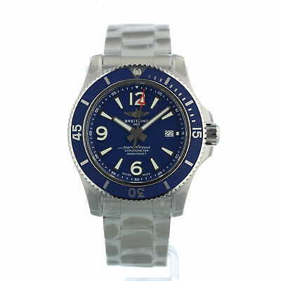 £2695 • Buy Breitling Superocean Automatic 44 A17367 Blue Dial Box And Papers Unworn 2021