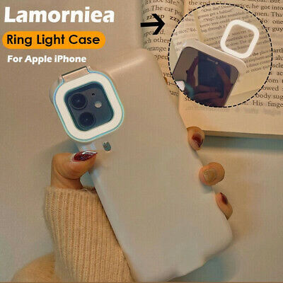 AU35.99 • Buy Led Fill-Light Mobile Phone Case With Selfie Ring Light For IPhone 12 Pro Max 11