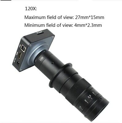 £104.99 • Buy 38MP 1080P 60FPS USB HDMI Industry Electronic Microscope C-Mount Video Camera UK