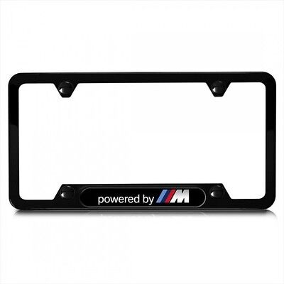 $49.99 • Buy BMW Genuine Powered By M Stainless Steel License Plate Frame Single 82112348414