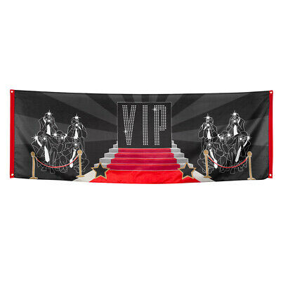 £8.50 • Buy Giant VIP Fabric Flag Banner Party Event Or Prom Decoration - 7ft X 2.5ft - New