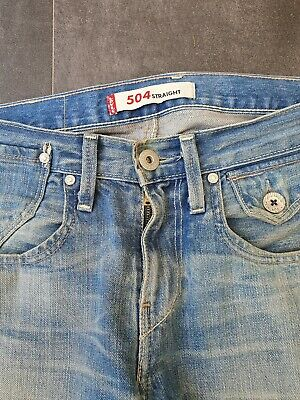 £90 • Buy Levis 504 Rare 6 Pocket Buckle Back. Cinch Jeans. Genuine Collectable.