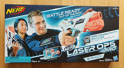 £18.50 • Buy Nerf Gun Laser Ops Pro AlphaPoint 2-Pack Laser Tag-Blaster With Light & Sound!