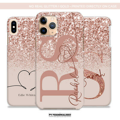 AU10.42 • Buy PERSONALISED PHONE CASE COVER NAME INITIALS HARD FOR APPLE IPHONE 7 8 Plus XR 11