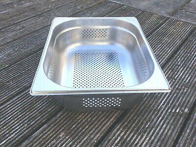 £10 • Buy Vogue Stainless Steel 1/2 Size PERFORATED Gastronorm Pan Bain Marie Pot