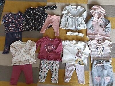 £0.99 • Buy Baby Girls Minnie Mouse Outfit/dumbo Dress/ 5 Tops & 5 Leggings 0-3 Months Ex Co