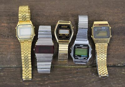 $ CDN16.17 • Buy Lot Of 5 Vintage Digital Watches Timex Seiko Nelsonic **FOR PARTS OR REPAIR**